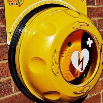 Image result for defibrillator rotaid cabinet community heartbeat trust